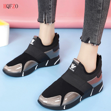 HQFZO Warm Plush Sneakers Soft Comfy Flats Shoes Woman Loafers Slip On Casual Female Winter Autumn Mujer 2018