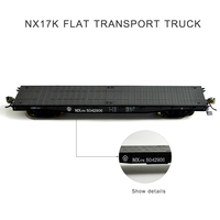 HO scale Model Train Transport Truck Car PF02XX NX17K / AK Flatbed Transporter Freight compartment 1:87 without container