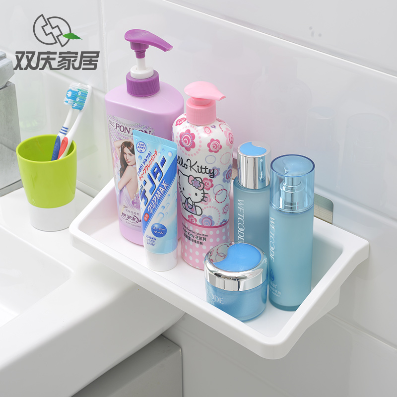 Magic Sticker Plastic Bathroom Kitchen Wall Mounted Multifunctional Storage Rack Accessories Basket Holder Sq 5031 In Shelves Racks From