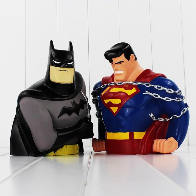 8 20cm Super Hero Batman VS Superman Action Figure Toys PVC Saving Bank Best Birthday Gifts For Kids