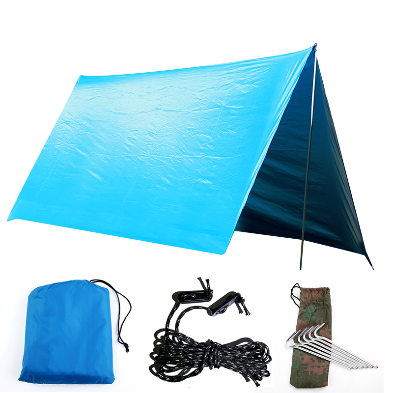 Outdoor Travel Portable Furniture Multi-purpose Canopy Hammock Waterproof Sunscreen Awning Shade Tent 5m 8mlarge outdoor tent canopy silicon coated light high waterproof fabric multi person tarpaulin rainproof sunscreen awning