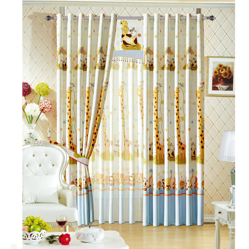 Childrens animal curtains curtain menzilperde net for Cheap childrens curtain fabric