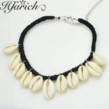 Hfarich Natural Shell Cowrie Necklace Women Best Friend Charming Seashell Bijoux Collier Femme Bohemian jewelry