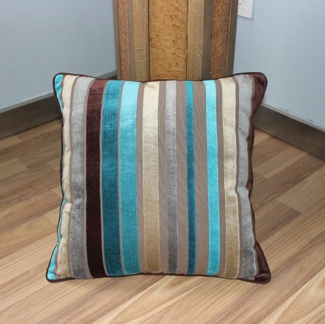 Exceptionnel VEZO HOME Multi Stripes Flocking Velvet Sofa Cushions Cover Home Decorative  Throw Pillows Cover Pillowcase 18x18