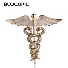 Эмаль blucome брошь булавки в форме крыла со змеями броши для