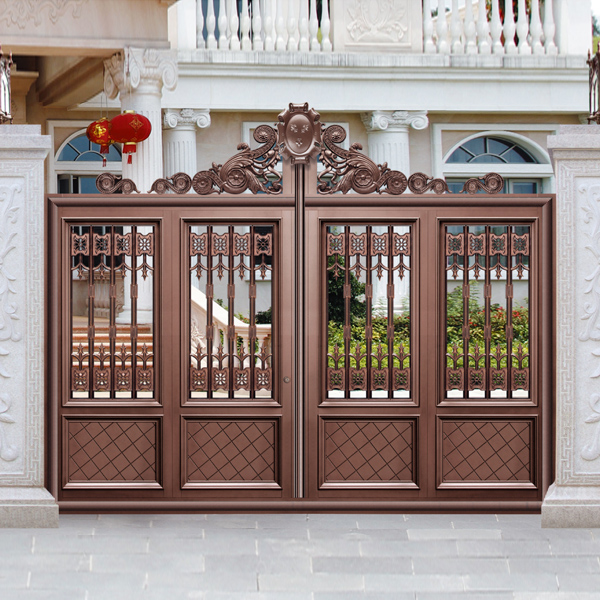 Classical Champagne Color Villa Outside Gate Security
