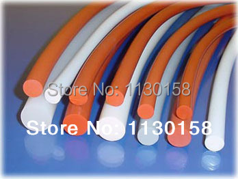 FREE SHIPPING Diameter 7.0mmX5meters Length 100% virgin High Quality Silica Rod Silicon Cord, Milky White & Red  Available