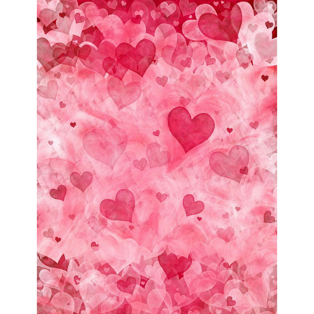 Photo Background Backdrop Pink Red Hearts Love Wedding Wallpaper Booth Camera For Newborn Baby Fotografica