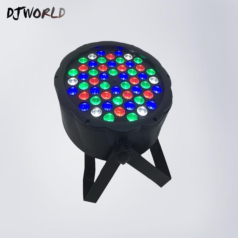 LED Flat Par 54x3W RGBW Lighting Strobe DMX DJ Wash Disco Professional Stage Lights DMX Controller Effect