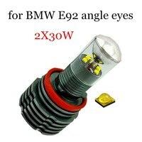 H8 LED Angel Eyes Marker Light Bulb For BMW E92 1 Pair Car Light Lamp Auto