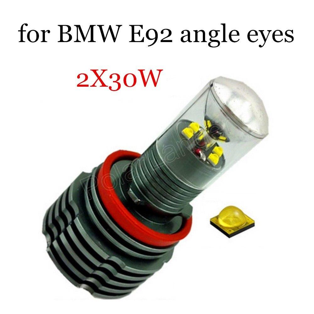 H8 LED ange yeux marqueur ampoule pour BMW E92 1 paire voiture lumière lampe auto 2X30 W 2 pièces de haute qualité