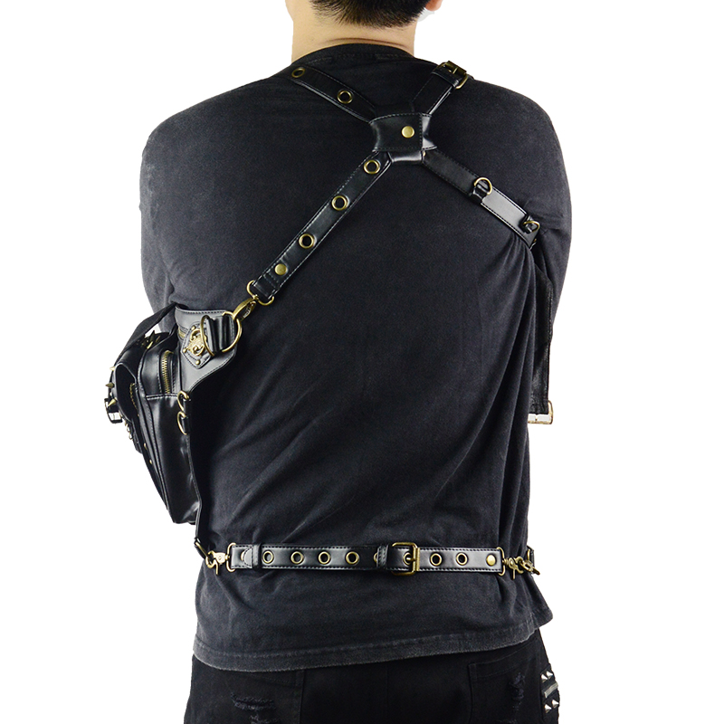 Steampunk Skull Waist Bag Messenger Shoulder Leg Bag Gothic Unisex Female Male Fanny Bag Personality Men Women Crossbody Bags 4