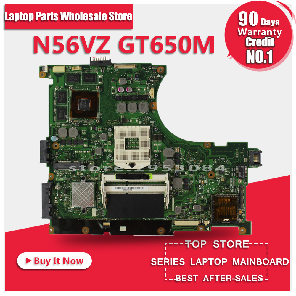 For Asus n56vm Rev 2.3 laptop motherboard Fit N56VM N56VJ N56VZ N56VB non-integrated N13P-GT-A2 GT650M 2GB system motherboard for asus x550cc r510cc ddr3 fit x550vb laptop motherboard gt720m 2gb i3 3217u cpu hm76 x550cc rev 2 0 pn 60nb00wa 100
