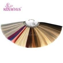K.S парики Remy человеческие волосы цветные кольца/цветовые диаграммы 37 цветов могут быть окрашены для салонного образца