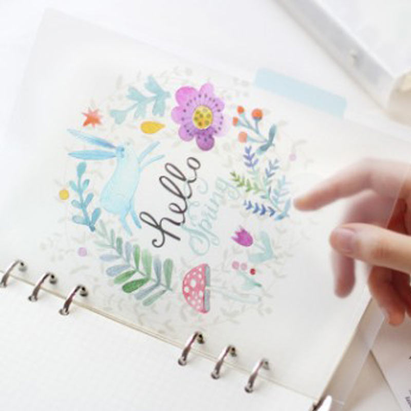Yiwi A5 A6 Original Kawaii Spiral Notebook Divider Cute Fine Organizer Seperator Pages Office School Stationery Index Paper