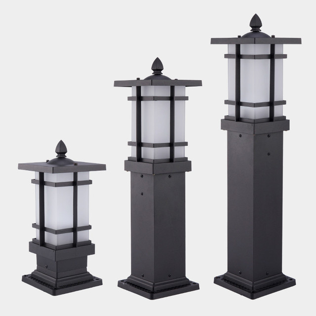 outdoor pillar lights solar 1pcs villa landscape lighting courtyard lights outdoor waterproof garden lawn pillar ap8081647