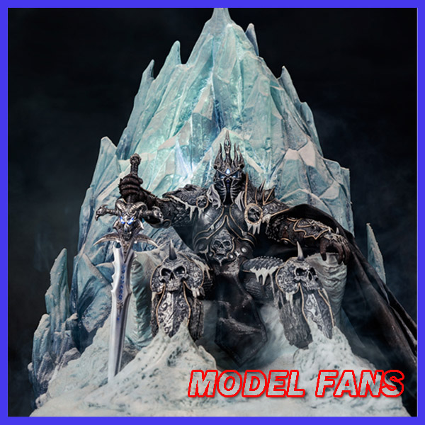 MODEL FANS wow 71cm Lich King Arthas Frozen Throne gk resin statue led light base eye Sword hilt toy for Collection 2017 new 7 fall of lich king arthas animation action figures for wow dc direct sealed classic scene toys