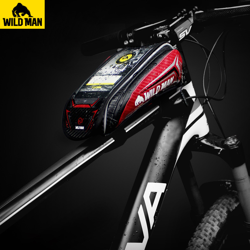 MTB Road Bicycle Rainproof Touch Screen Cycling Top Front Tube Frame Bags