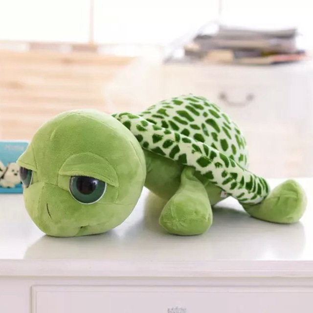20 CENTÍMETROS Grandes Olhos Brinquedos De Pelúcia Tartaruga Tartaruga Animais Bonecas