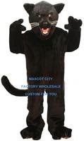 Jet Black Panther Costume Della Mascotte Formato Adulto Animale Selvatico Tema Festa di Carnevale Cosply Mascotte Mascota Fit Suit Kit SW1063
