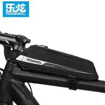 ROSWHEEL Cycling Aero Compact Top Tube Bag for Bicycle Front Beam Storage Pouch Road Bike Stem Mount Pannier