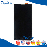 Black Color For Highscreen Omega Prime S Full LCD Display Touch Screen Panel Digitizer Assembly Replacement