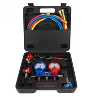 R134a Manifold Gauge Air Conditioning Refrigerant Manifold Gauge Set Repairing Tool with 1.5m Charging Hoses