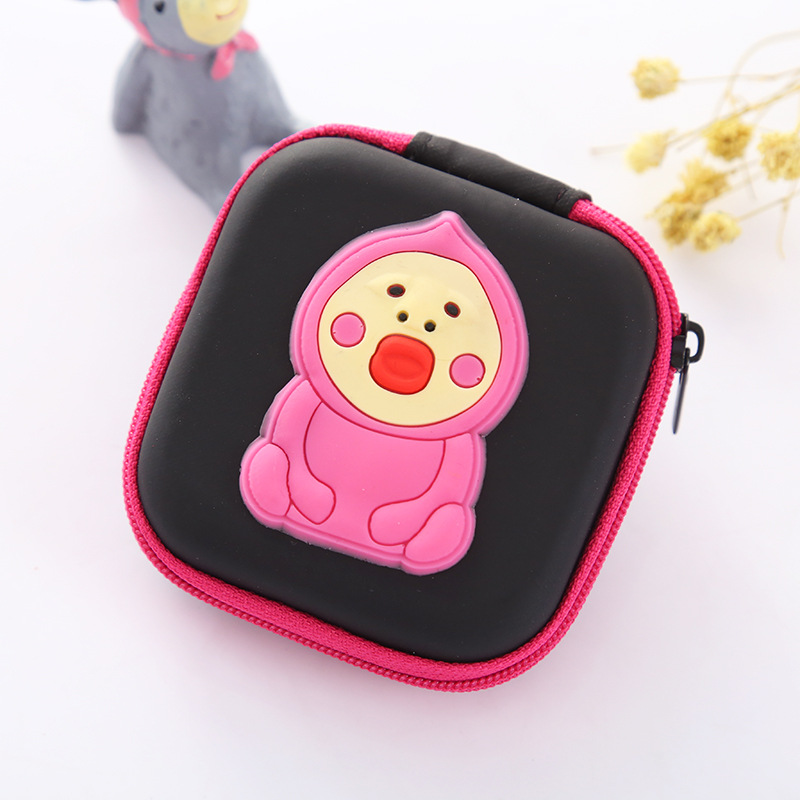 Hot Pink Candy Color Coin Purse EVA Silicone Coin Key Bag Pouch Wallets Cute Cartoon Earphone Organizer Wallet for Kids Boy Girl rose diary new fresh pool party cute silicone zipper bags zero wallet child girl boy purse lady women coin wallets pouch case