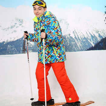 Waterproof Index 15000mm Warm Coat Sporty Ski Suit Windproof Boy Jackets Kids Clothes Sets Children Outerwear For 3-16 Years Old - DISCOUNT ITEM  36% OFF All Category
