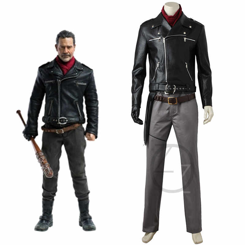 9fc52cafc The Walking Dead Season 8 Cosplay Rick Grimes Costume Black Jacket Carnival  Christmas Outfit Adult Men Full Set Custom Made