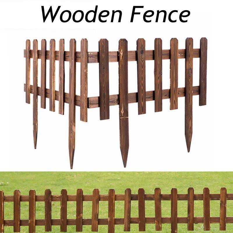 Garden Fence Wooden Lawn Edging Plant Border Decorations Flower Bed Border