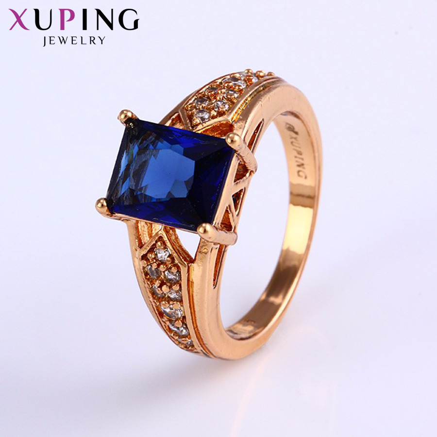 11.11 Deals Xuping Fashion Ring New Gold Color Plated Synthetic CZ Jewelry for Women Engagement Wedding Gift Christmas 11789