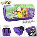 Pocket Monster pen Pocket Monster eevee cremallera doble bolsa de dibujos animados Pikachu Cartera Grande