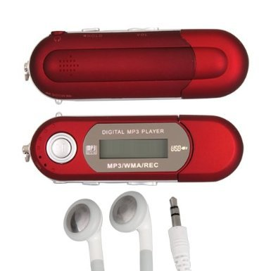 New Portable MP3 Red 4GB USB LCD Mini MP3 Player FM Radio Voice Recorder