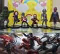 Nueva caliente 8 cm 6 unids/set capitán américa guerra Civil the avengers Iron man hulk visión nocturna Ultron figura de acción juguetes colección juguete navidad
