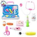 Новое Распродажа детские Имитация Врач Tool Box Toys Funny 10 шт. Медицины Toys for Boys and Girls Pretend Play Классический игрушка