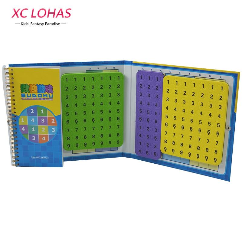 340 Level Magnetic Sudoku Cube Children Math Toys IQ Puzzle Cube Magnetic Puzzle Brain Teaser Tictactoe