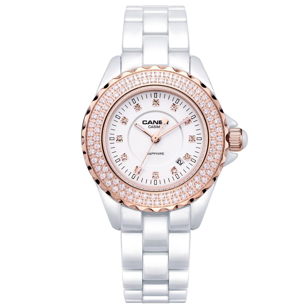 Watches Fashion Women Luxury Brand Lady Ceramic quartz Watch Women's Wristwatches waterproof CASIMA # 6702|casima women|casima watch women|casima watch - title=