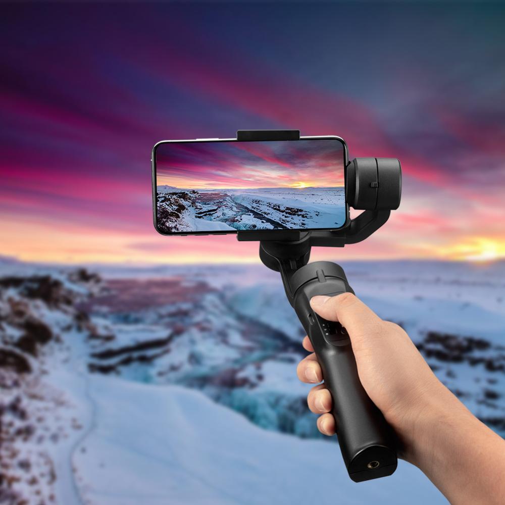 Stabilisateur de cardan portable Flexible 3 axes pour iPhone Xs Max Xr X 8 Plus 7 pour Huawei pour Samsung S9, 8 support pour téléphone extérieur PTZ - 2