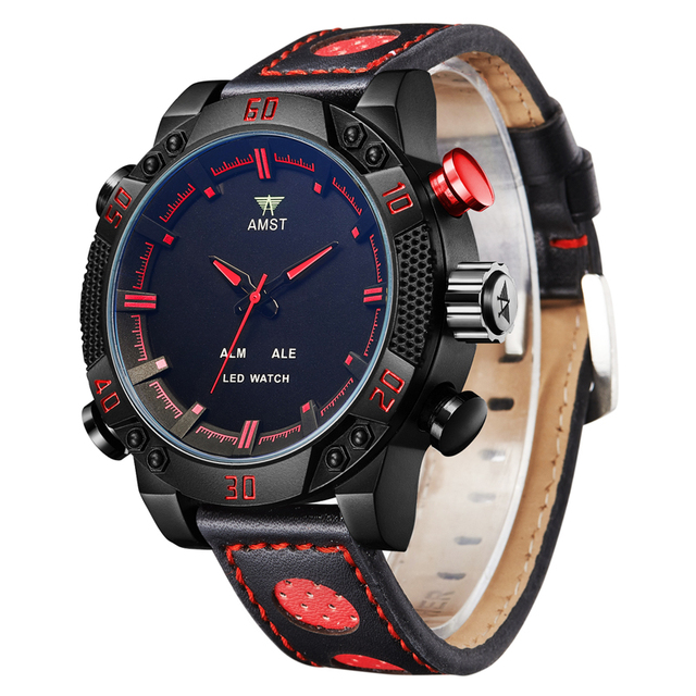 New Luxury Brand Men Watches Fashion Casual Quartz Digital Dual Display Timezone Wristwatches Sport Watches Relogio Masculino