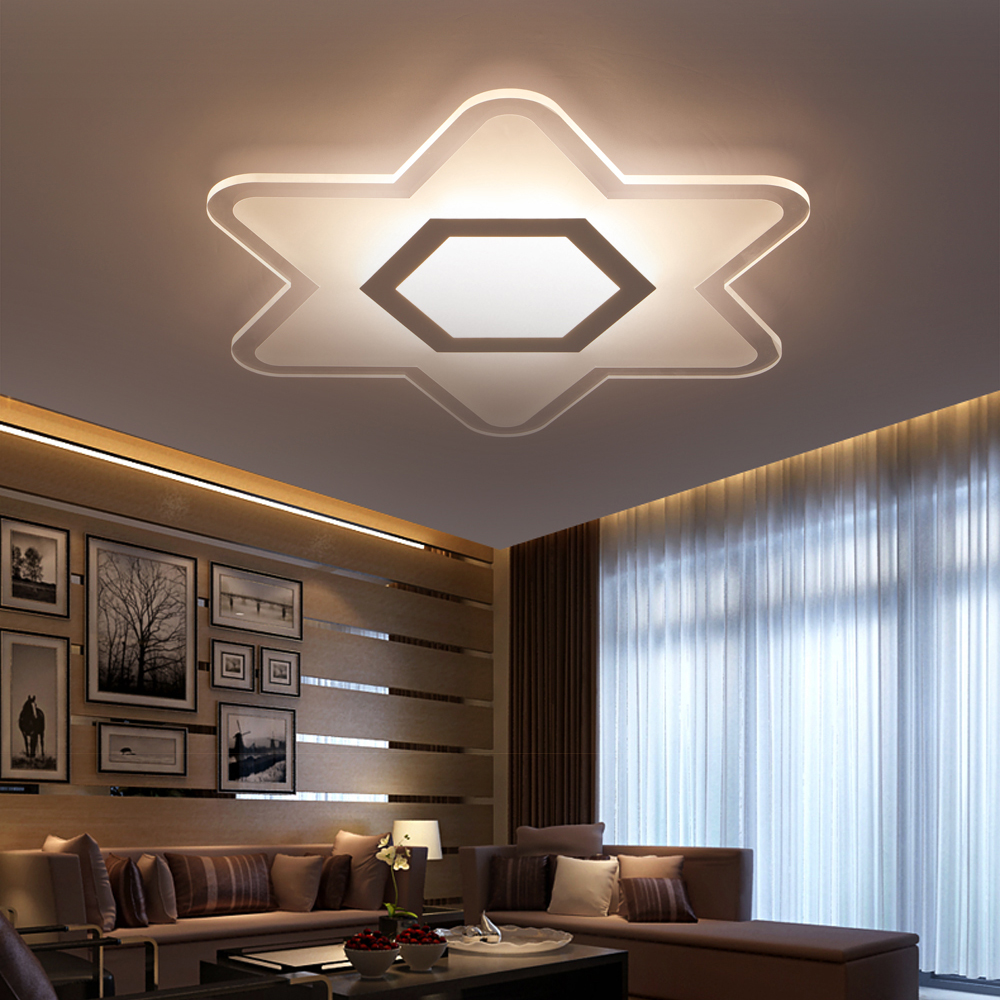Bedroom ceiling lights stars - Led Modern Acrylic Iron Dimmable Star Led Lamp Led Light Ceiling Lights Led Ceiling Light Ceiling Lamp For Foyer Bedroom