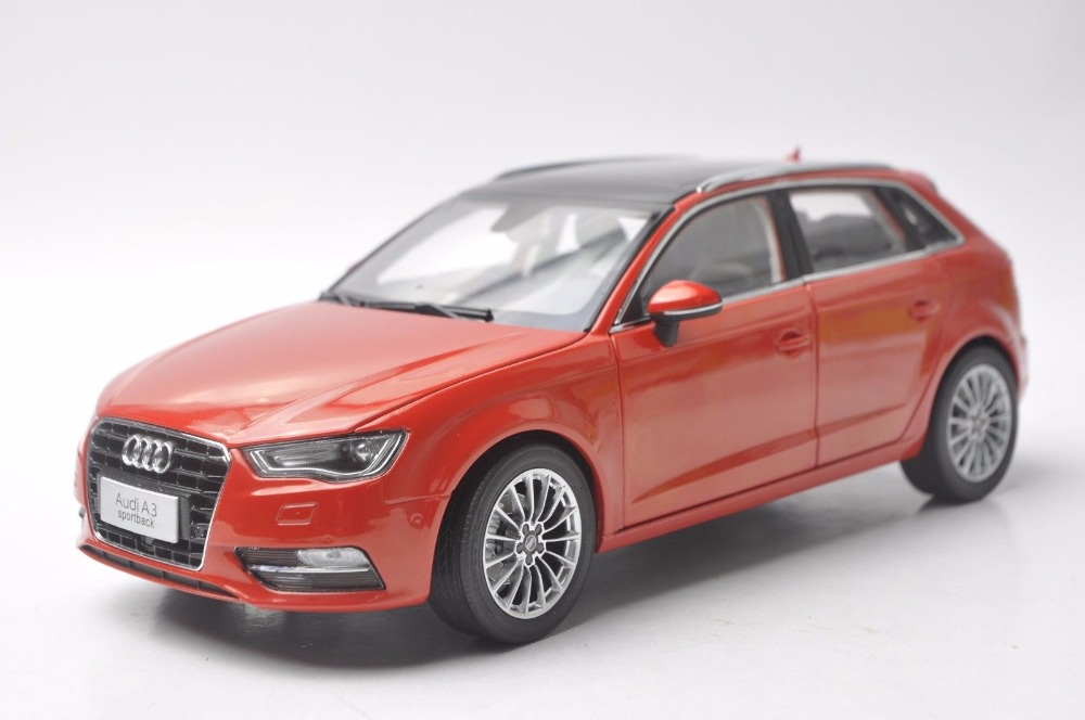1:18 Diecast Model for Audi A3 Sportback Red SUV Alloy Toy Car Miniature Collection Gift 1 18 vw volkswagen teramont suv diecast metal suv car model toy gift hobby collection silver