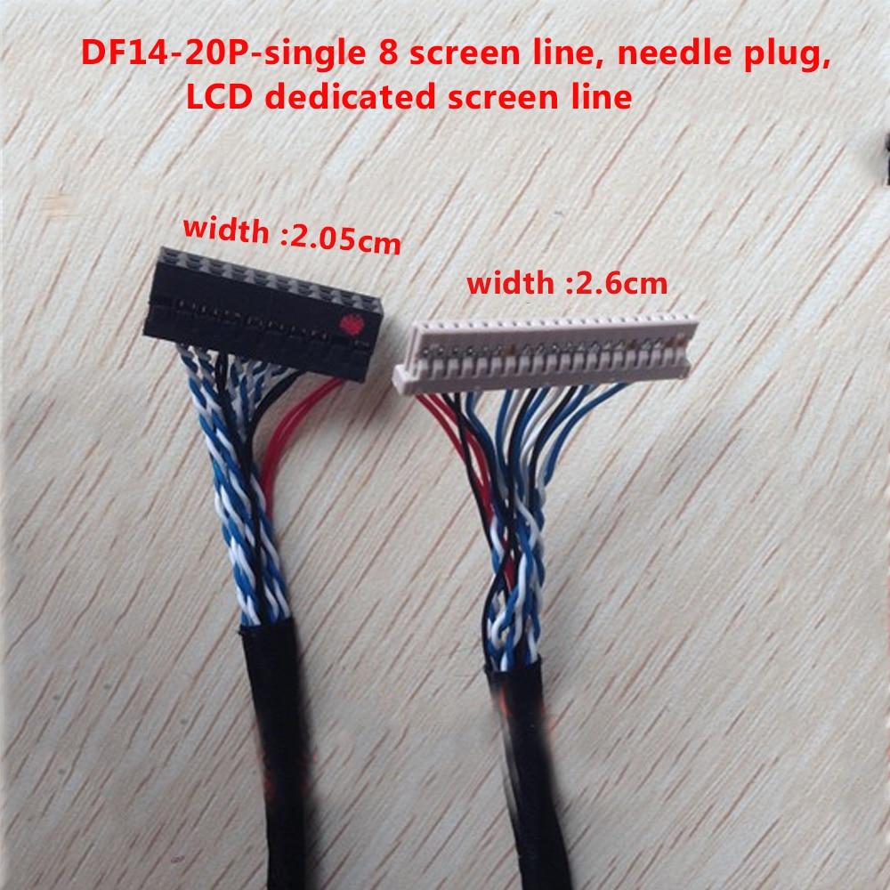 P2 DF14 20P Single Eight Screen Line Single 8 20-pin Music Huaxing Universal LVDS LCD Screen Line