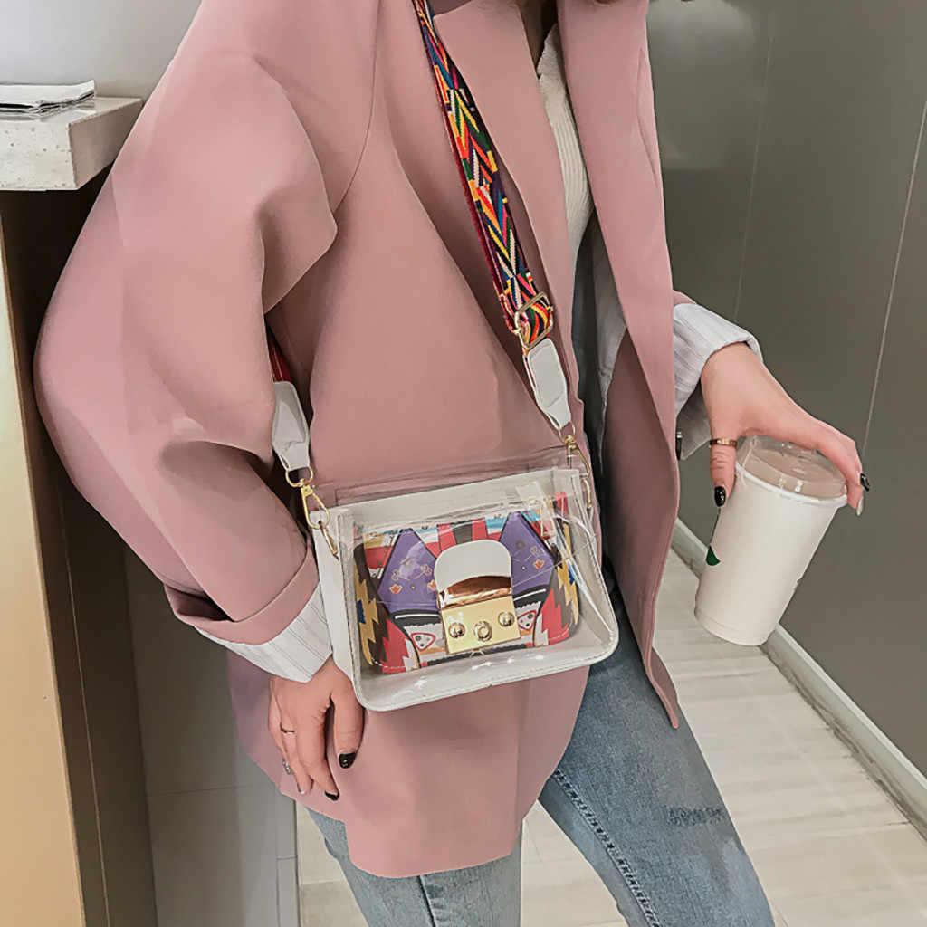 Tas Wanita Liar Messenger Transparan Jelly Bahu Sac Femme Tas Wanita 2019 Carteras Mujer De Hombroy Bolsos Bolsa Feminina