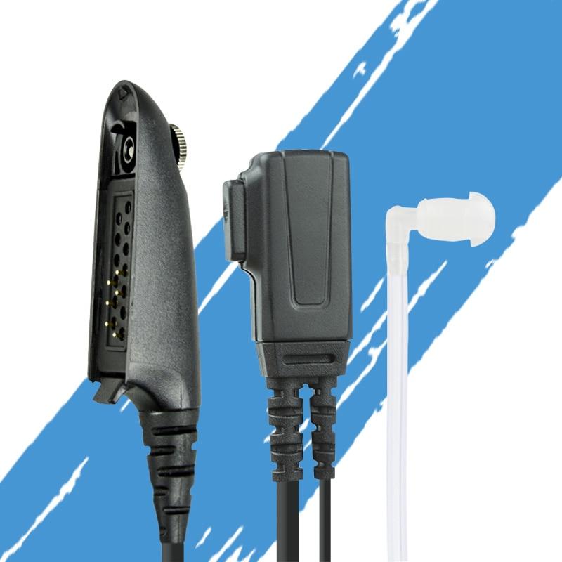Motorola Radio FBI Style Headset Earpiece Covert Acoustic Tube Earpiece With PTT Key For Motorola GP328 GP338 PTX700 PTX780