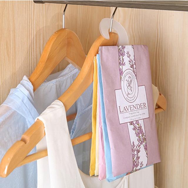 1 Pcs /pack Fragrant Lavender Sachet Hanging Wardrobe Closet Car Odor Mildew  Insect Repellent Clothes