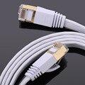Cable de red 15 M / 20 M / 25 M / 30 M Cable Ethernet Cat7 RJ45 M / M Thin alta velocidad plana de par trenzado apantallado Internet Lan