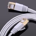 Network Cable 15M/20M/25M/30M Ethernet Cable Cat7 RJ45 M/M Thin High Speed Flat Shielded Twisted Pair Internet Lan