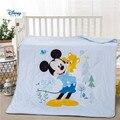 Disney одеяло из хлопковой ткани  летние синие постельные принадлежности с 3d принтом Микки Мауса Для маленьких мальчиков и девочек  стеганое о...