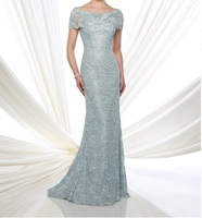 2018 cap sleeve High Quality evening gown Elegant Floor Length vestido de noiva festa long Lace Mother of the Bride Dresses